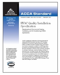 acca quality installation hvac checklist