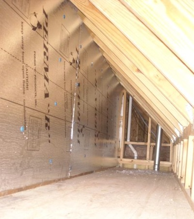 attic kneewall expanded polystyrene foamboard for sheathing Nashville & How to Sheathe an Attic Kneewall u2014 And How Not to