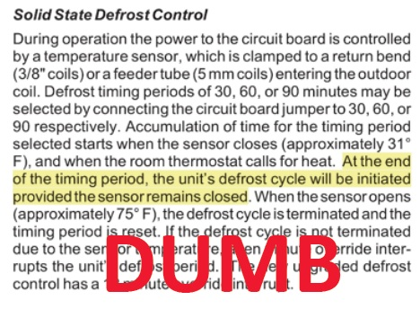 goodman defrost board wiring diagram goodman image why are heat pumps so dumb about frost on goodman defrost board wiring diagram