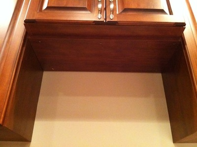 indoor air quality iaq range hood cabinet niche missing duct hole - Ductless Range Hood