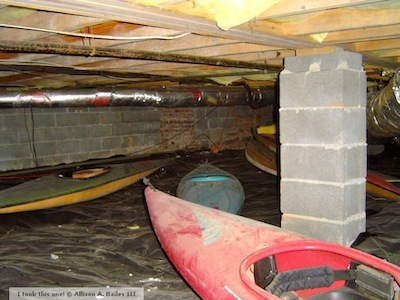 moisture problem kayaks in crawl space