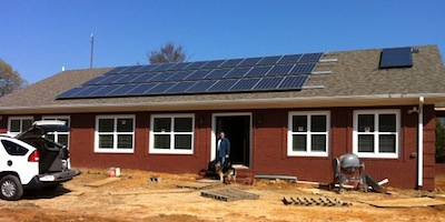 A net zero energy home in rural tennessee for Energy efficient concrete homes