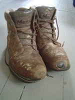old boots from building green home small