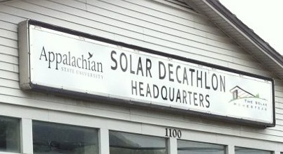solar decathlon house appalachian state university boone nc headquarters sign