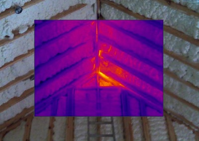 spray foam insulation building envelope new big hole 3 infrared image Jamie Kaye