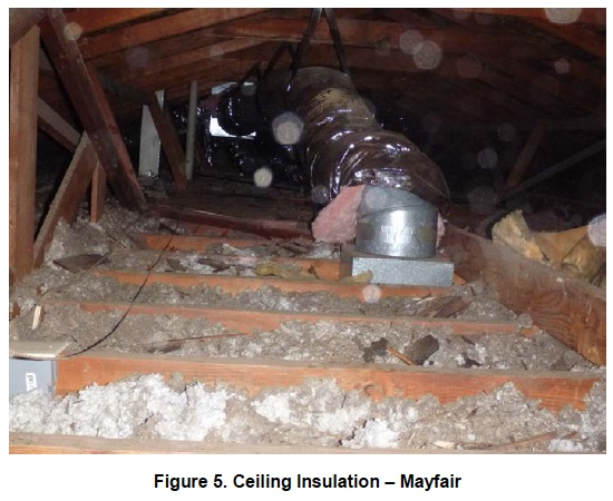 stockton research project hers rating discrepancy ceiling insulation