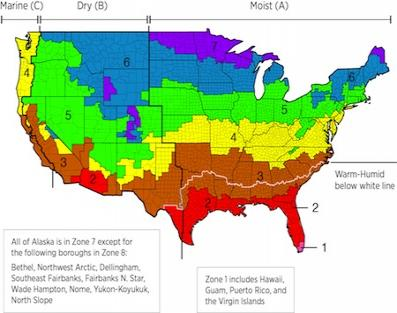 Do You Know Your Building Science Climate Zone - Us air moisture map
