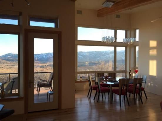 near net zero energy home utah ski resort view