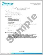 HVAC Design Sample Summary Page