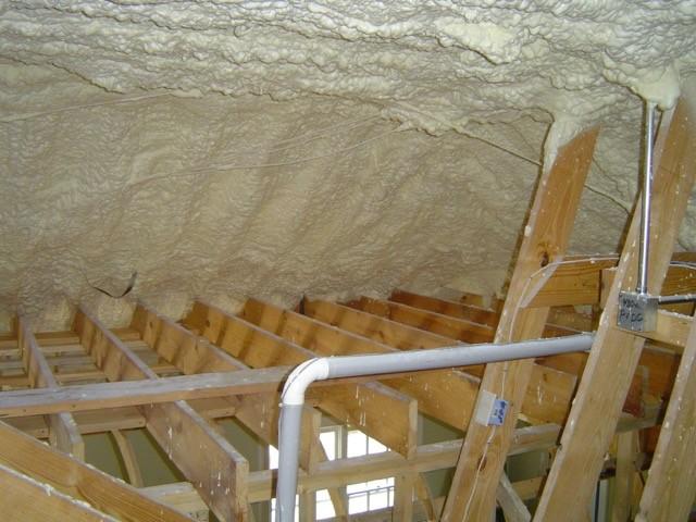 Spray foam insulation in Al Gore's attic