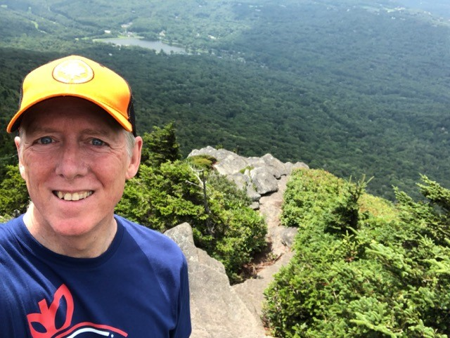 Allison Bailes on the Grandfather Mountain ridge trail in August 2018