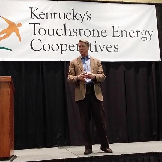 Allison Bailes giving a keynote speech in Lexington, Kentucky