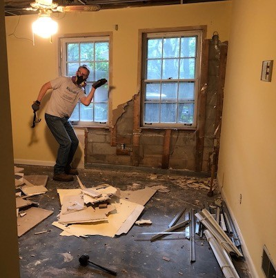 Basement demolition dance