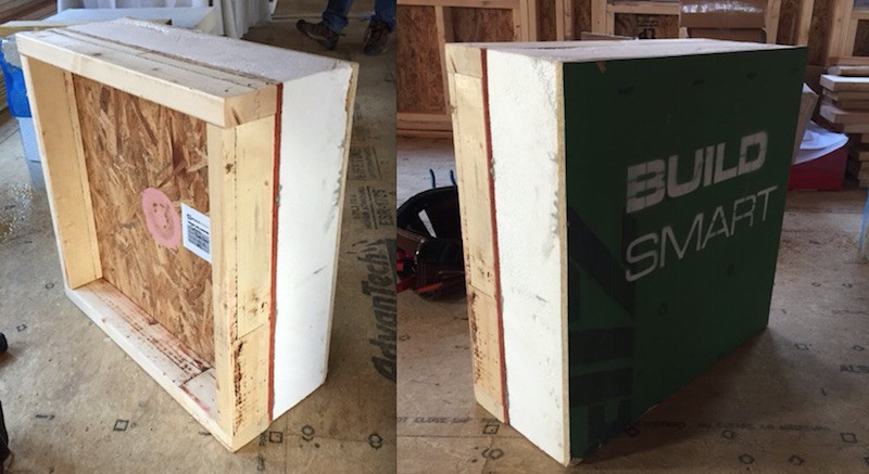 A sample of the Build SMART wall panel