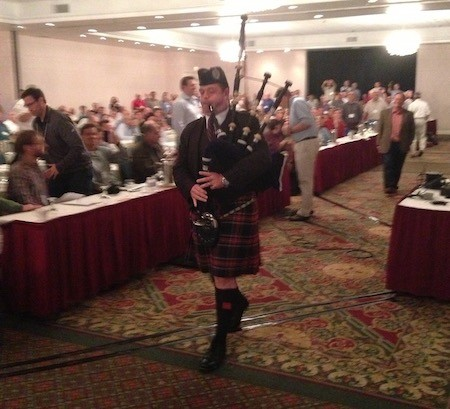 Bagpipes at the 2013 BS Summer Camp