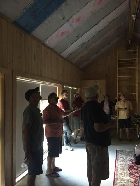 Joe Lstiburek giving a tour of Building Science Corporation's new test hut