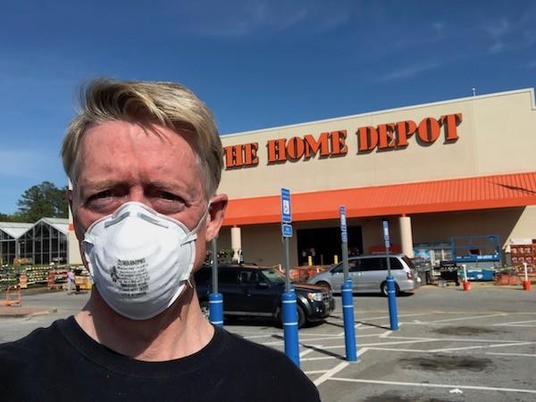 Wearing an N95 mask in public