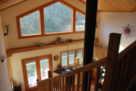 View of Bailes home from the inside