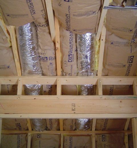 Ducts in vaulted ceiling