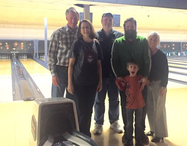 Energy Vanguard holiday bowling party, 2017
