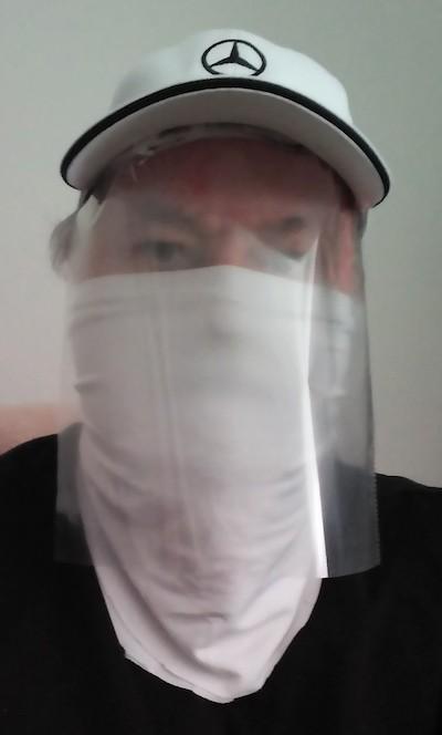 Simple coronavirus face protector and mask, from Armando Cobo