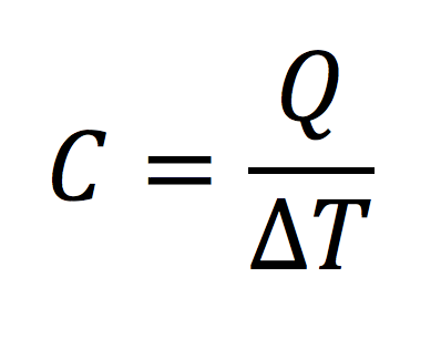 Heat capacity equation