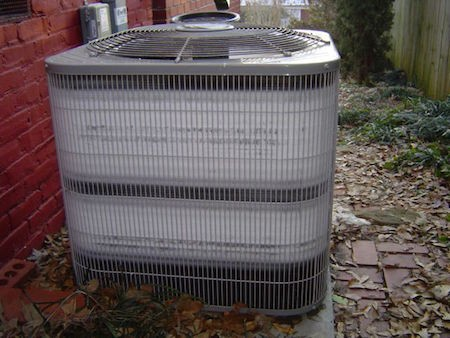 A heat pump takes heat from the outdoor air (or ground or water)
