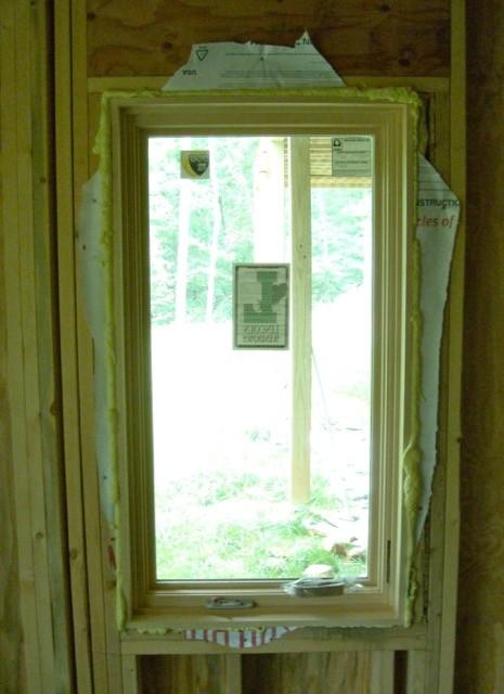 Improper window flashing wrapped around header