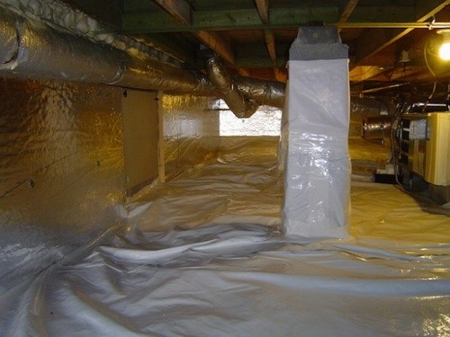 A beautiful, dry, encapsulated crawl space