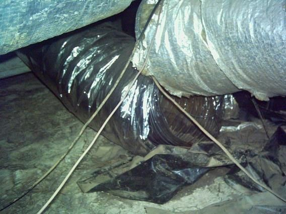 Disconnected ducts, especially outside the building enclosure, can be a huge problem
