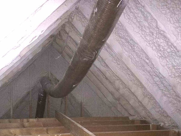 Flex duct not pulled tight significantly reduces air flow