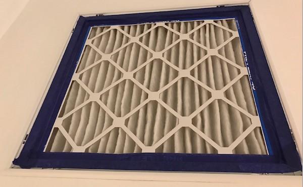 """John Semmelhack's 2"""" filter grille with MERV-13 filter"""
