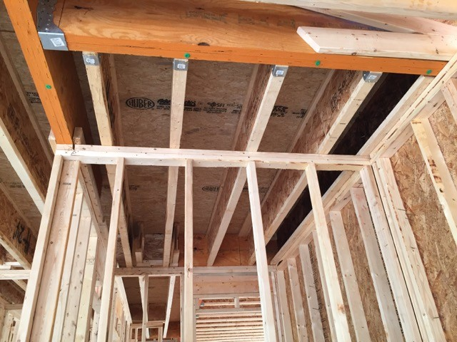 Joist blocking in the wrong place for this room in the garage