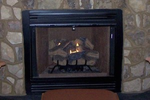 Gas log fireplaces are more efficient - and more dangerous - when they're not vented. But are they more efficient than a condensing furnace?