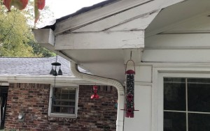 The soffits, fascias, and gutters need to be replaced, opening up an air-sealing opportunity
