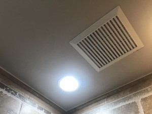 Bathroom exhaust fan brings humid air into the house