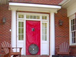 A blower door tells you about the holes in a home's building enclosure