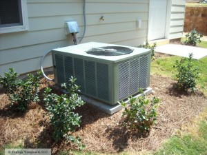 The outdoor unit of an air conditioner or heat pump