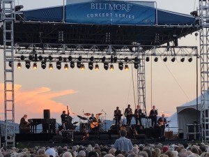 Lyle Lovett and His Large Band in concert at the Biltmore Estate in Asheville, NC
