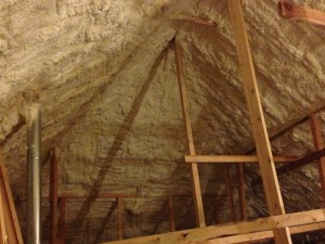 Attics encapsulated with spray foam insulation have more volume