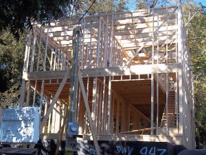 Stick-built home with advanced framing