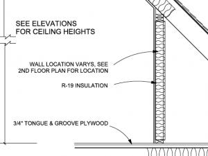 attic kneewall details air barrier insulation