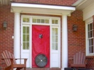 A Blower Door can find the hole but not the pressure difference.