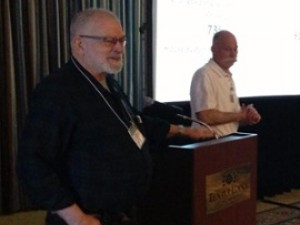 Bruce Wilcox and John Proctor at the Dry Climate Forum