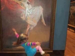 facebook little girl dancing with art