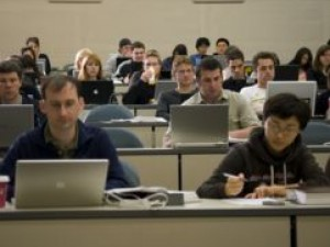 HERS rater test, students with laptops