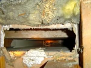 Fridge vent in attic