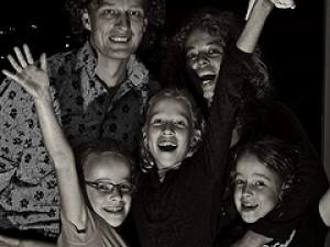 hvac air conditioner happy family