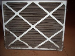 HVAC filter, very dirty