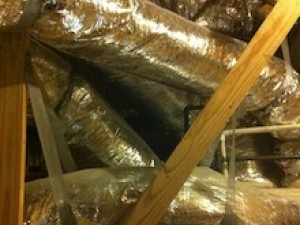 hvac flex duct distribution system in unconditioned attic